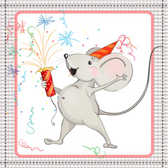 Little mouse and fireworks