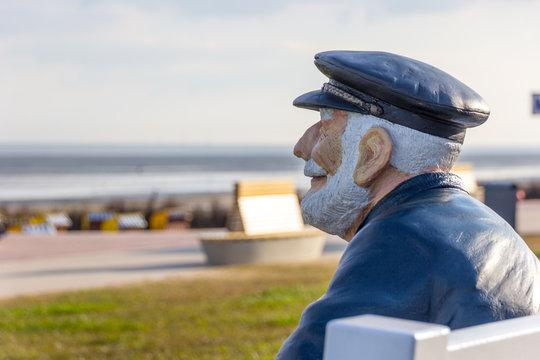 Figur am Duhner Strand