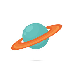 Saturn planet vector isolated