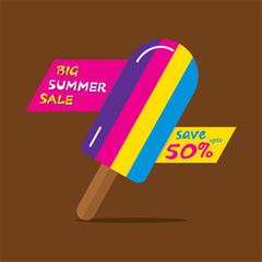 big summer sale poster design