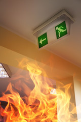 Building on fire - emergency exit
