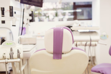 Dental interior office with modern equipment