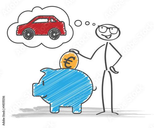 Strichmännchen Auto