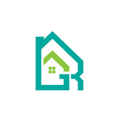 Logo Green Aqua Realty Letter RG Masterpiece Icon