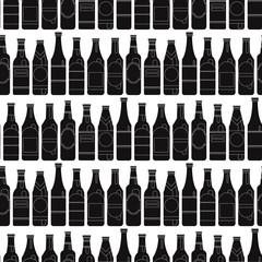 Bar Bottle Seamless Style of modern art and geometry bottle beer.
