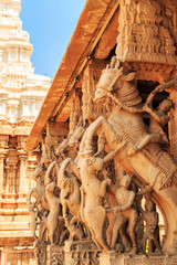 Fotomurales - Carved walls of the Indian temple.