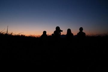 Fellow twilight silhouette