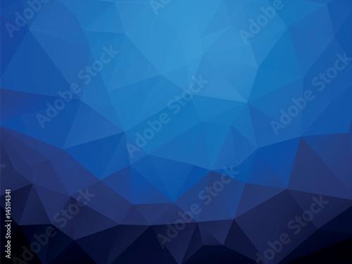 Dark Blue Ocean Geometric Wallpaper Background Stock Image And