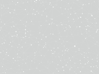 abstract gray background connecting dots