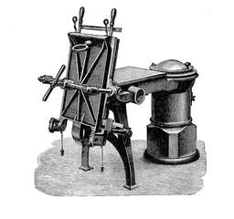 XIX century industrial machinery, casting machine