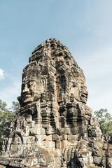 Ruins and ancient temples in Angkor Wat.
