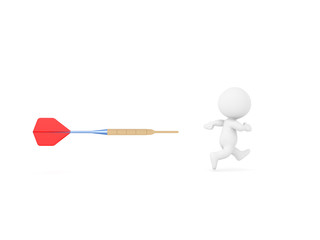 3D Character being chased by dart