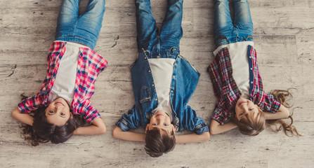 Happy stylish kids