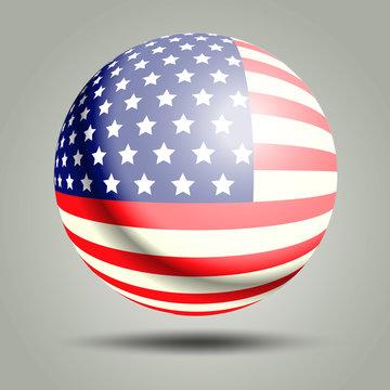 Circle flag USA