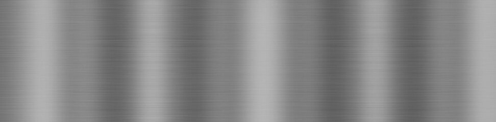 Dark gray background, brushed metal texture