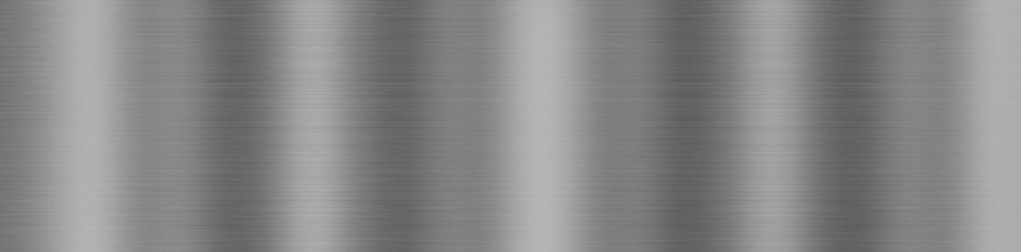 Dark gray background, brushed metal texture