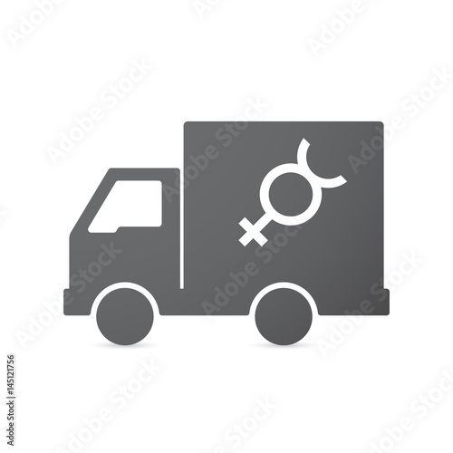 Isolated Truck With The Mercury Planet Symbol Stock Image And