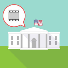 The White House with   a photographic 35mm film strip