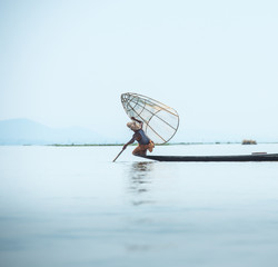 Fishermen in Inle Lake, Shan State, Myanmar