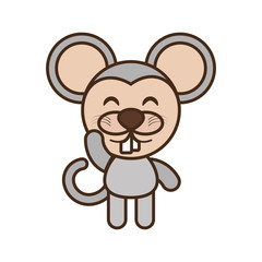 mouse baby animal funny image vector illustration eps 10