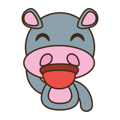 hippo baby animal funny image vector illustration eps 10