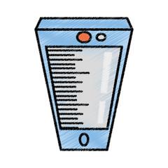 smartphone call technology sketch vector illustration eps 10