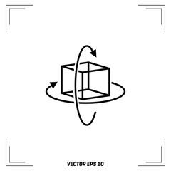 vr controller 3d 360 degree outline vector