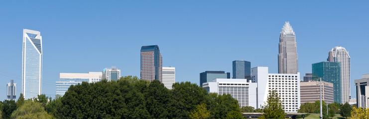 Charlotte, NC skyline panorama