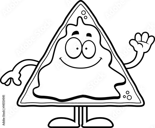 Cartoon Nachos Waving Stock Image And Royalty Free Vector Files On