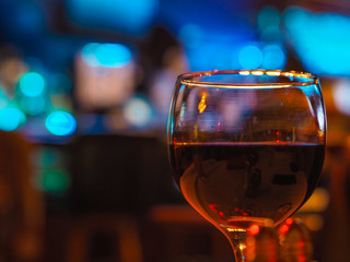 wine glass bokeh