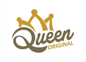 Queen typography and Crown