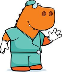 Cartoon Dinosaur Doctor