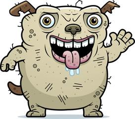 Ugly Dog Waving