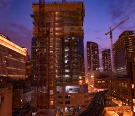 Fototapete - Chicago Sunset