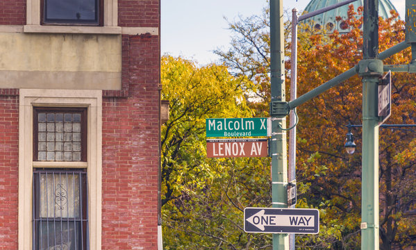 Lenox Avenue, also named Malcolm X Boulevard, both names are officially recognized, is the primary north south route through Harlem in the upper portion of the New York City borough of Manhattan.