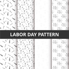 Abstract Beautiful Set of Labor Day pattern background
