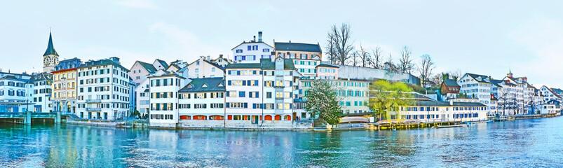 Panorama of Schipfe quarter in Zurich Fototapete