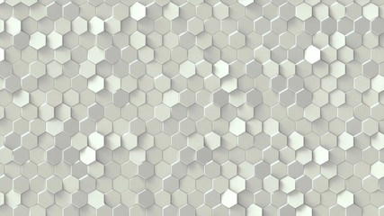 White geometric pattern design.
