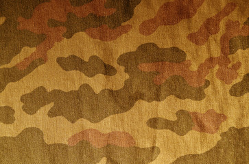 Old camouflage uniform pattern.