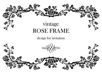 Rose vintage frame