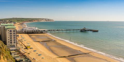 The beach at Sandown, Isle of Wight, England
