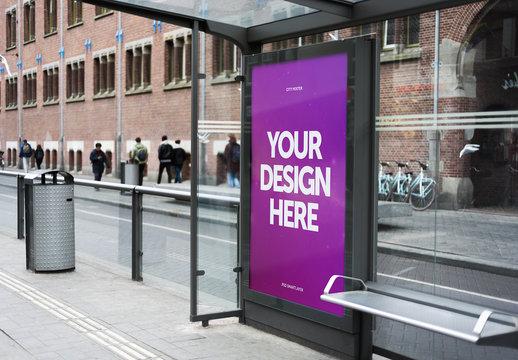 Outdoor Kiosk Advertisement Mockup 10