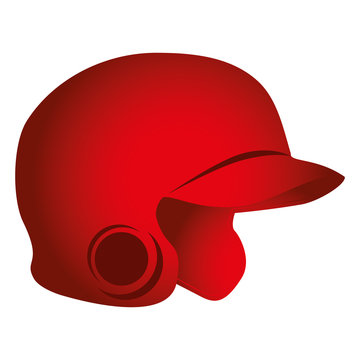 baseball helmet isolated icon vector illustration design