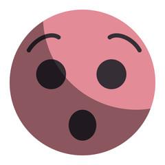 emoticon kawaii face icon vector illustration design