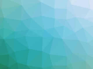 Abstract teal white gradient polygon shaped background