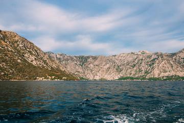 Beautiful nature mountains landscape. Kotor bay, Montenegro