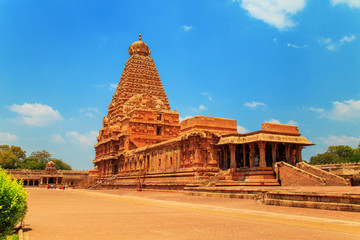 Foto op Canvas Temple Brihadeeswara Temple in Thanjavur, Tamil Nadu, India.
