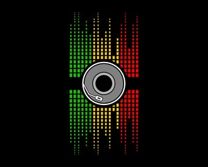 Disc audio music dj