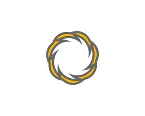 Abstract curvilinear loop
