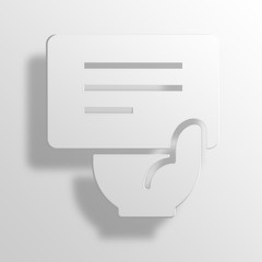 note 3D Paper Icon Symbol Business Concept